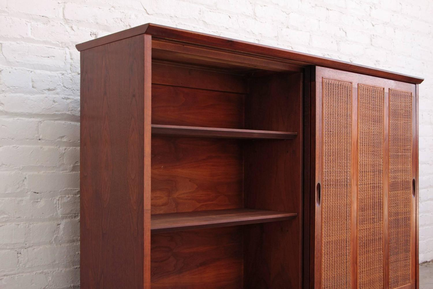 1000 #371610 Harvey Probber Mahogany Sideboard Cabinet With Cane Doors For Sale At  save image Harvey Doors 43271500