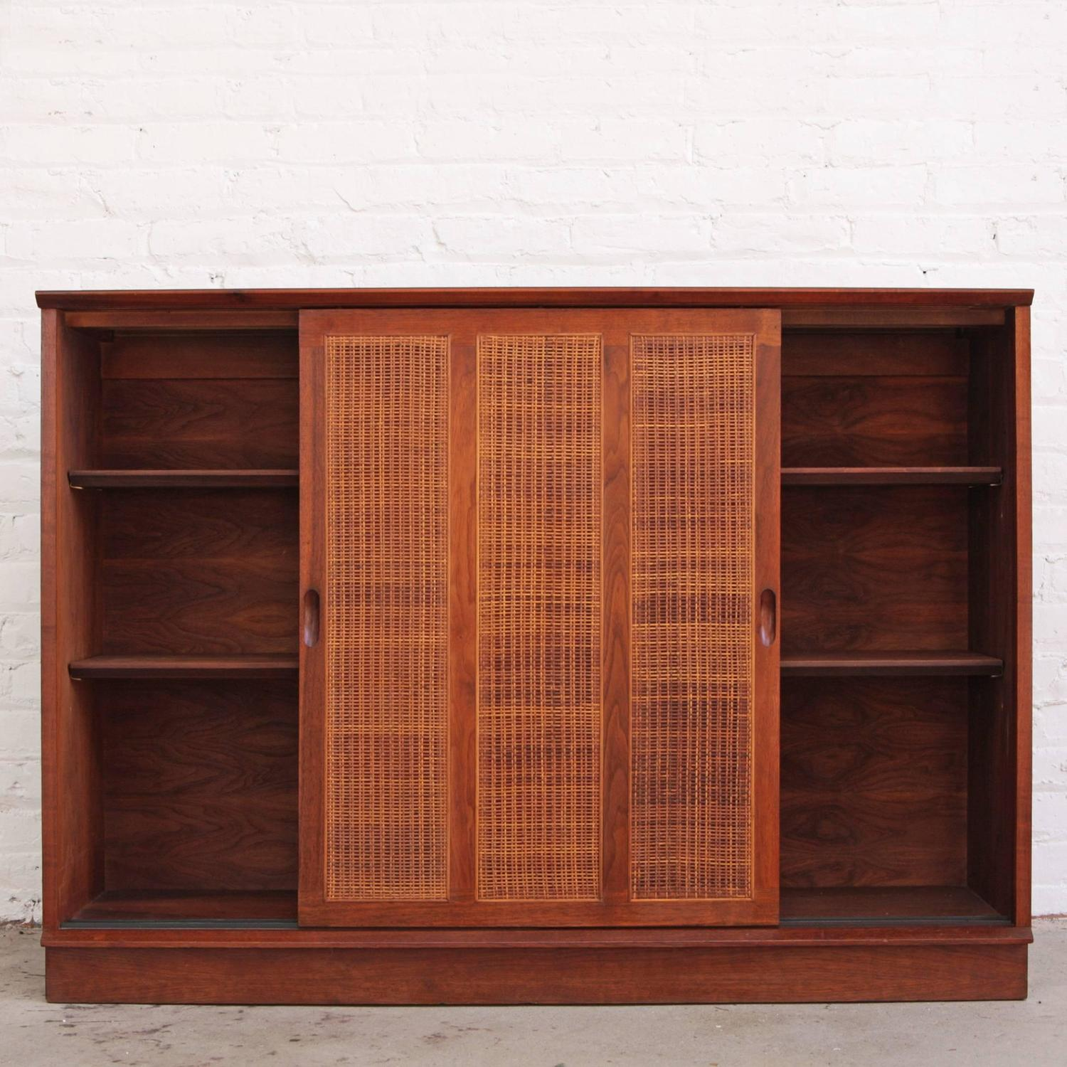 1500 #A04A2B Harvey Probber Mahogany Sideboard Cabinet With Cane Doors For Sale At  save image Harvey Doors 43271500