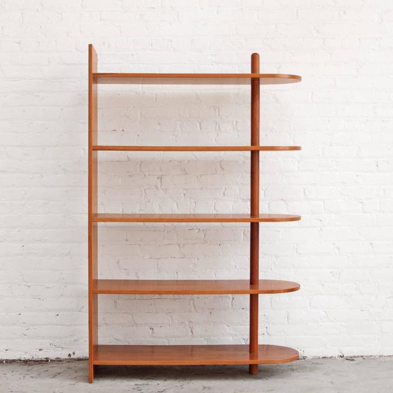 Mid Century Modern Danish Teak Bookcase Freestanding Shelves For Sale