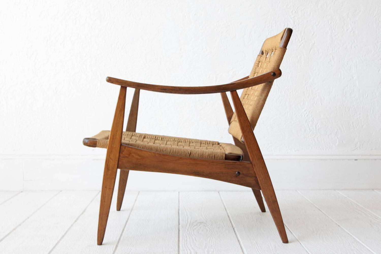 Hans wegner style woven rope chair at 1stdibs - Hans wegner style chair ...