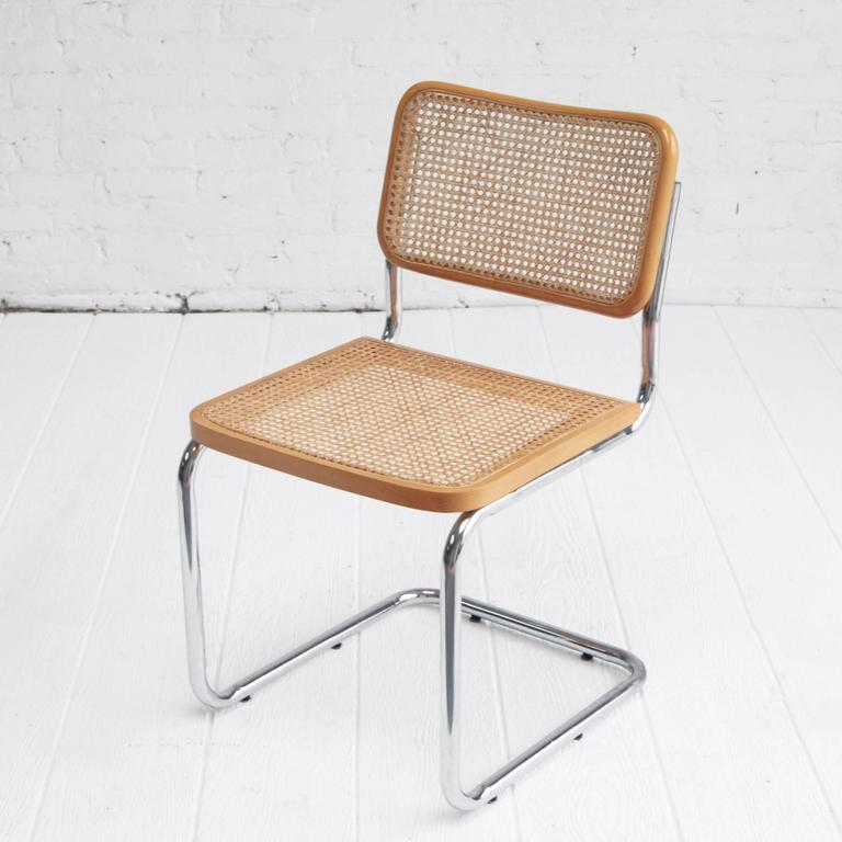Genial Set Of Four Cantilever Cesca Chairs Designed By Marcel Breuer. Made In  Italy. Bent