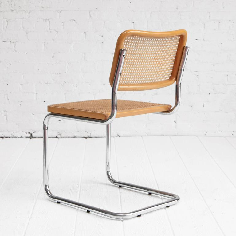 Lovely Marcel Breuer U0027Cescau0027 Chairs Chrome And Cane Dining ...