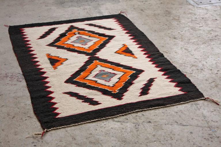Antique Navajo Rug Tribal Geometric Pattern At 1stdibs