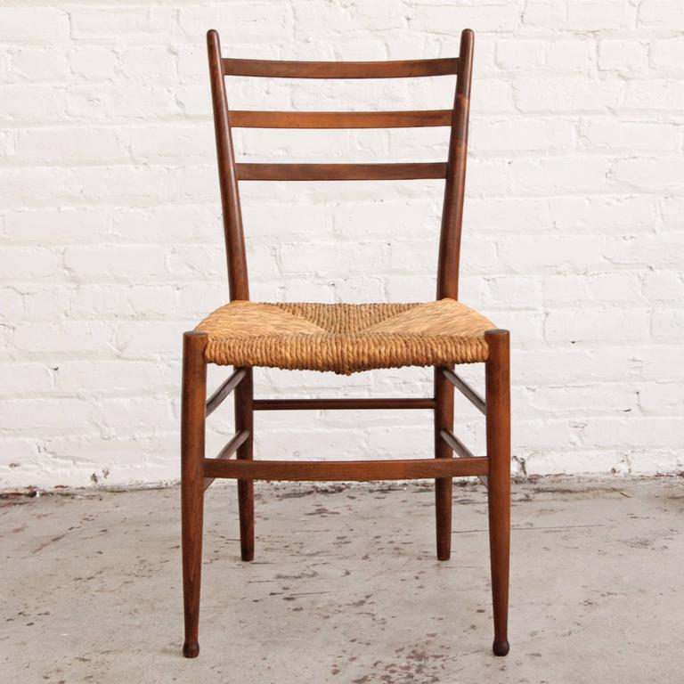 Six Italian Modern Dining Chairs Gio Ponti Style At 1stdibs