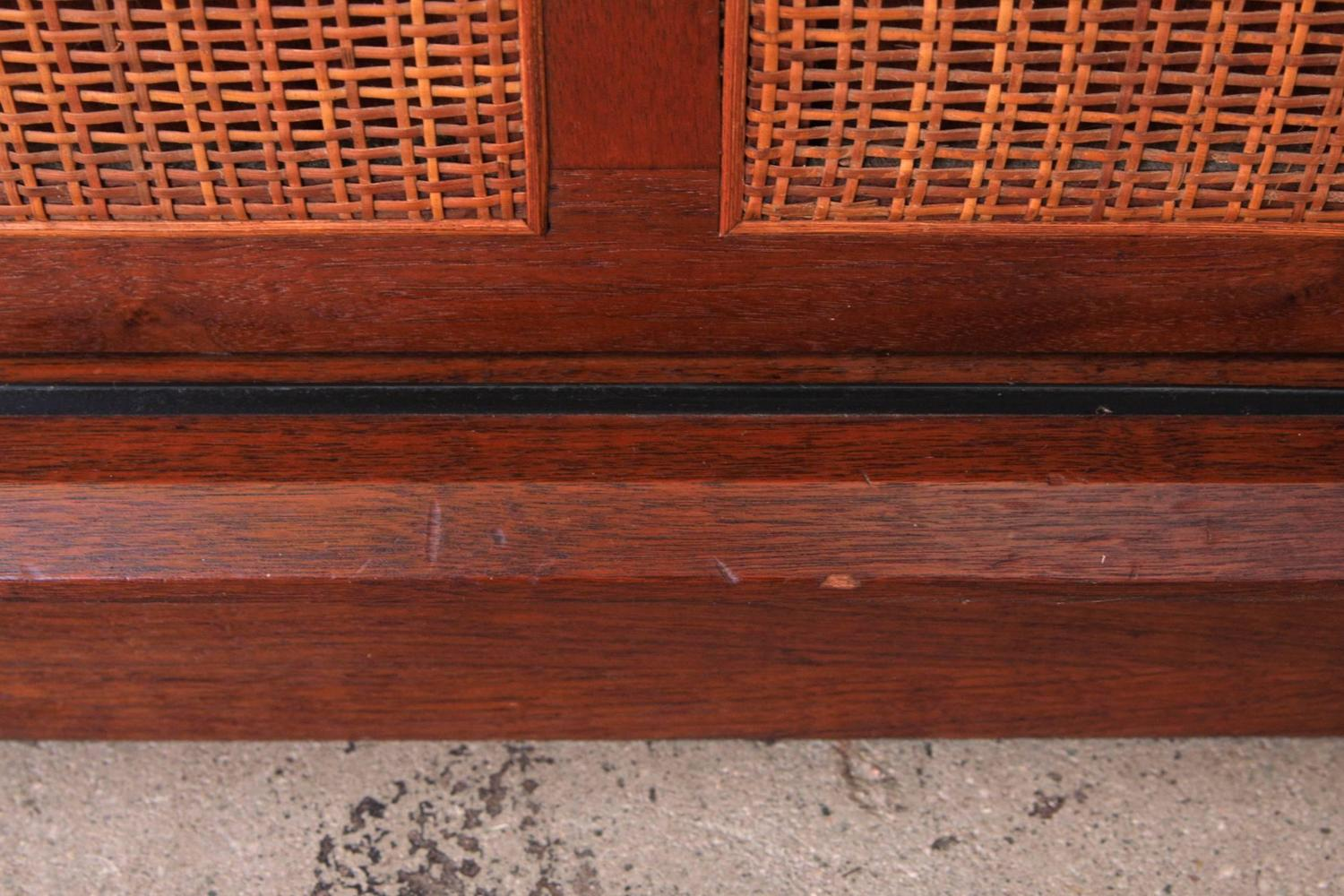 1000 #A44627 Harvey Probber Mahogany Sideboard Cabinet With Cane Doors For Sale At  save image Harvey Doors 43271500