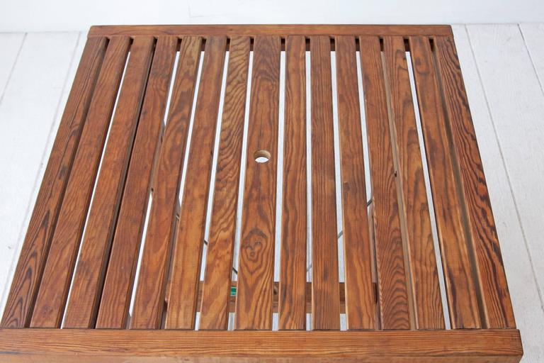 Elsa Stackelberg Redwood Patio Set, Sweden In Good Condition For Sale In Brooklyn, NY