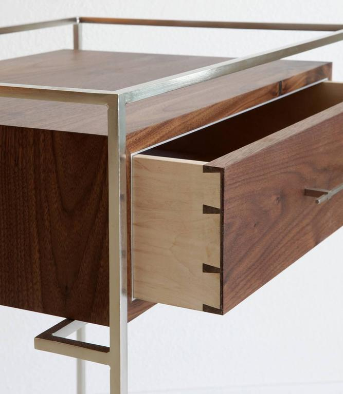 Modern Pair Of Floating Drawer Side Tables, Bedside Tables For Sale