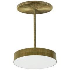 Semi-Flush Circle, Striped brass