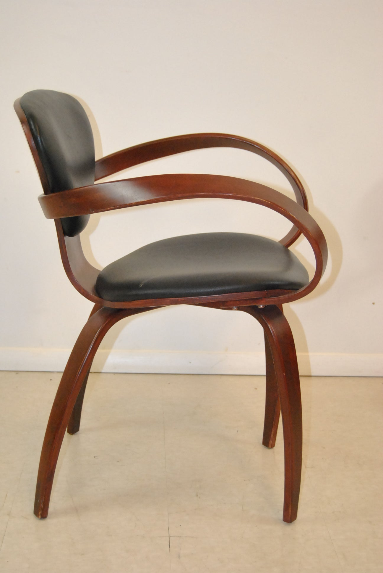 Strong Packing Antiques Vintage Levenger Goldman Mid Century Chair Very Nice!