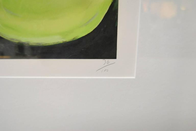 Modern Donald Sultan Print 'Quince' Signed and Numbered 36/100, September 7, 1988 For Sale
