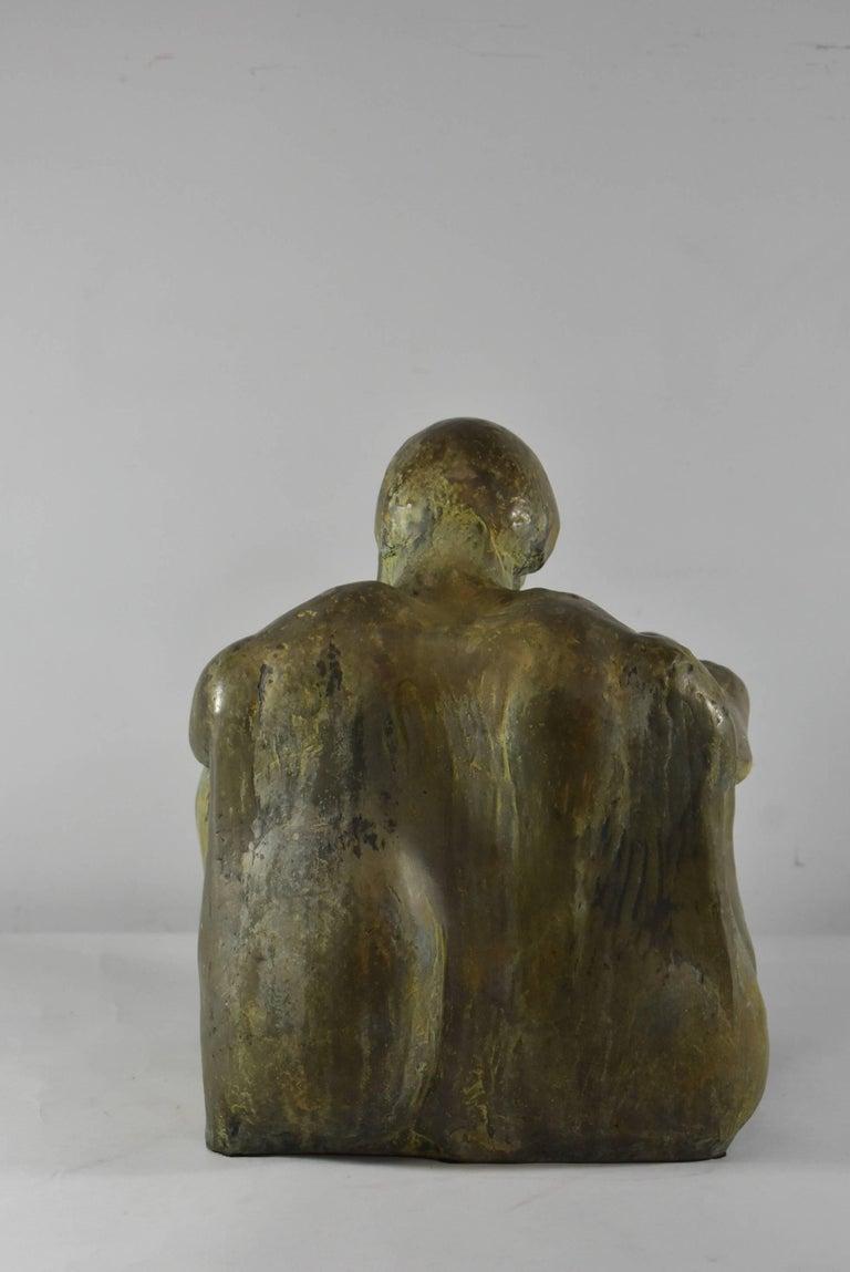 Original bronze sculpture by Leonard Schwartz (American, 1923-1988). Brown patina bronze. Signed at the lower left