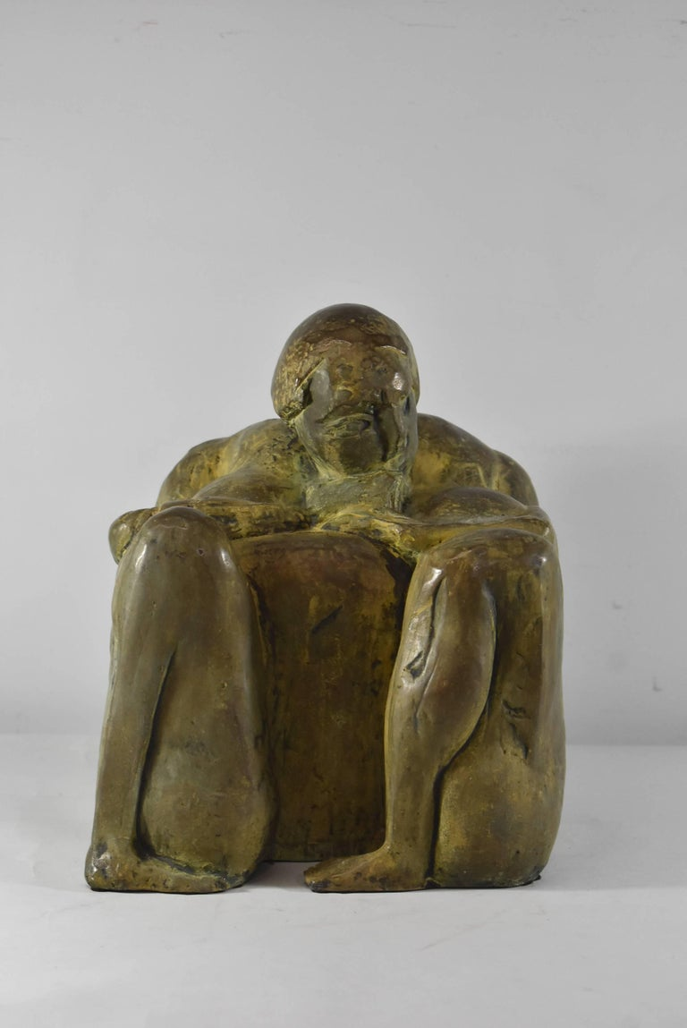 Modern Bronze Sculpture Signed and Numbered by Leonard Schwartz