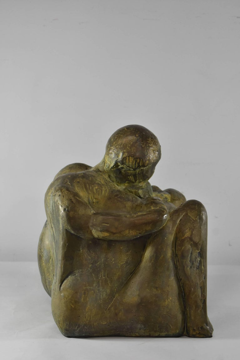 Mid-20th Century Modern Bronze Sculpture Signed and Numbered by Leonard Schwartz