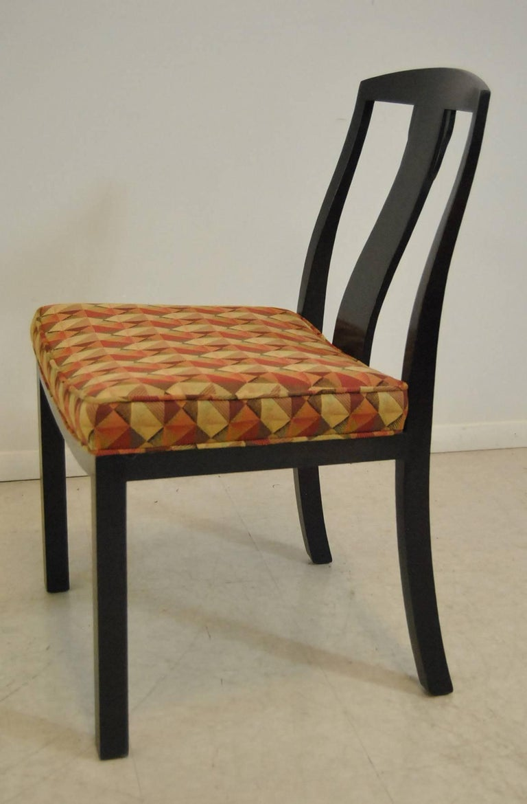 Set of six espresso asian mid century modern side chairs for Asian chairs for sale