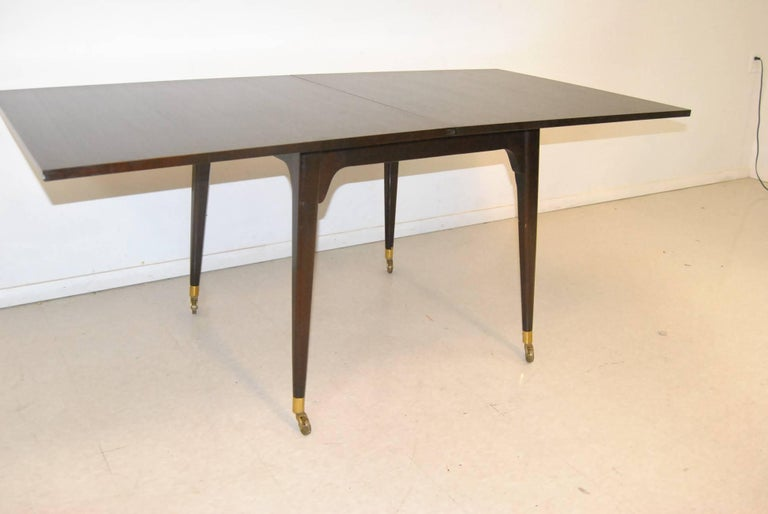 American Mid Century Ebonized Flip Top Game Table by Edward Wormley for Dunbar For Sale