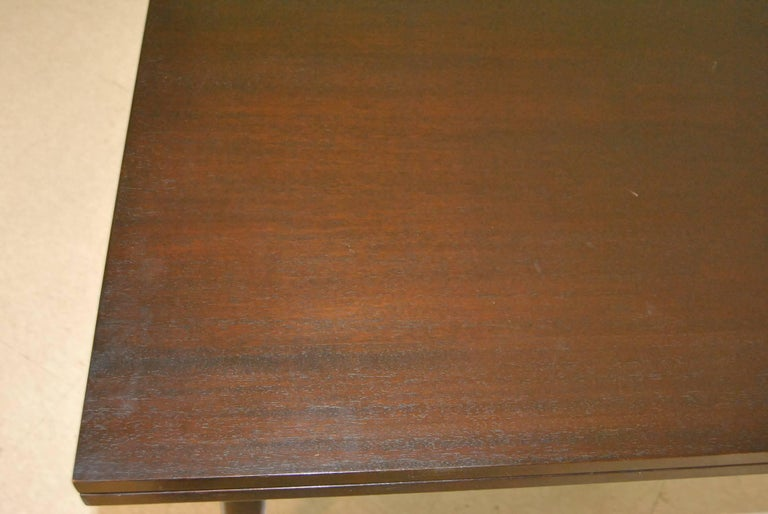 Mid Century Ebonized Flip Top Game Table by Edward Wormley for Dunbar For Sale 1