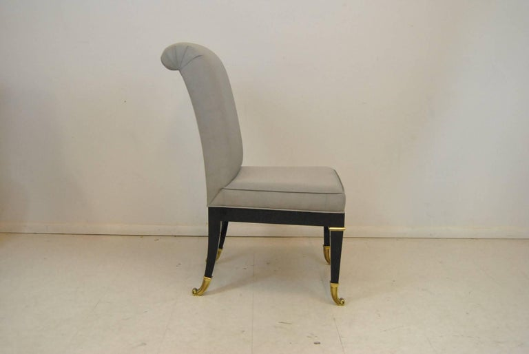 Mid-Century Modern Ten Regency Style Dining Room Chairs by Mastercraft For Sale