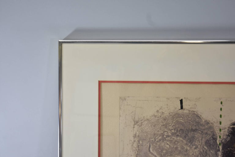 Mid-Century Modern Mixed-Media Signed and Numbered Carborundum Etching by James Coignard 2/25 For Sale