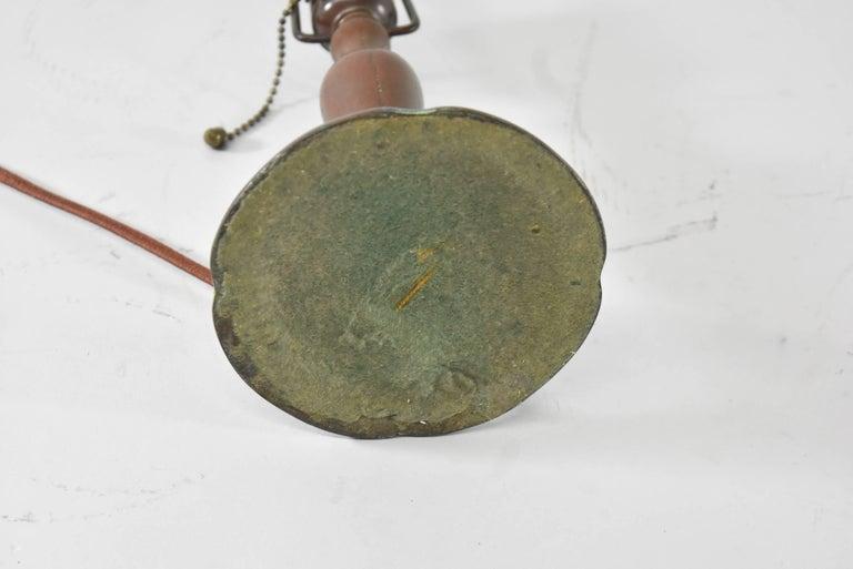 Handel Reverse Painted Shade Boudoir Lamp For Sale 1