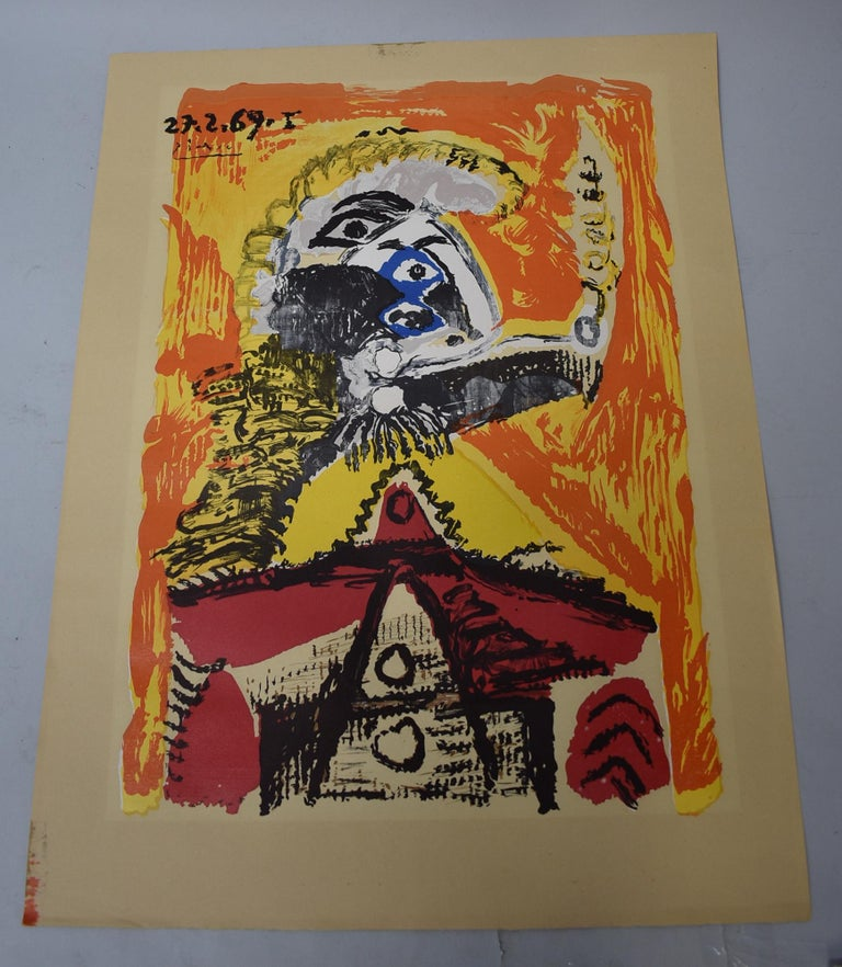 A lithograph print by Pablo Picasso, titled,