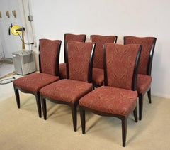 Set of 6 Upholstered Dining Room Chairs by Barbara Barry for Baker Furniture
