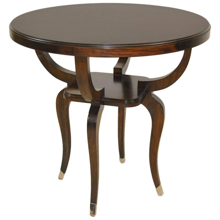 Walnut Parisian End Table With Inlaid Top By Robb Stucky For
