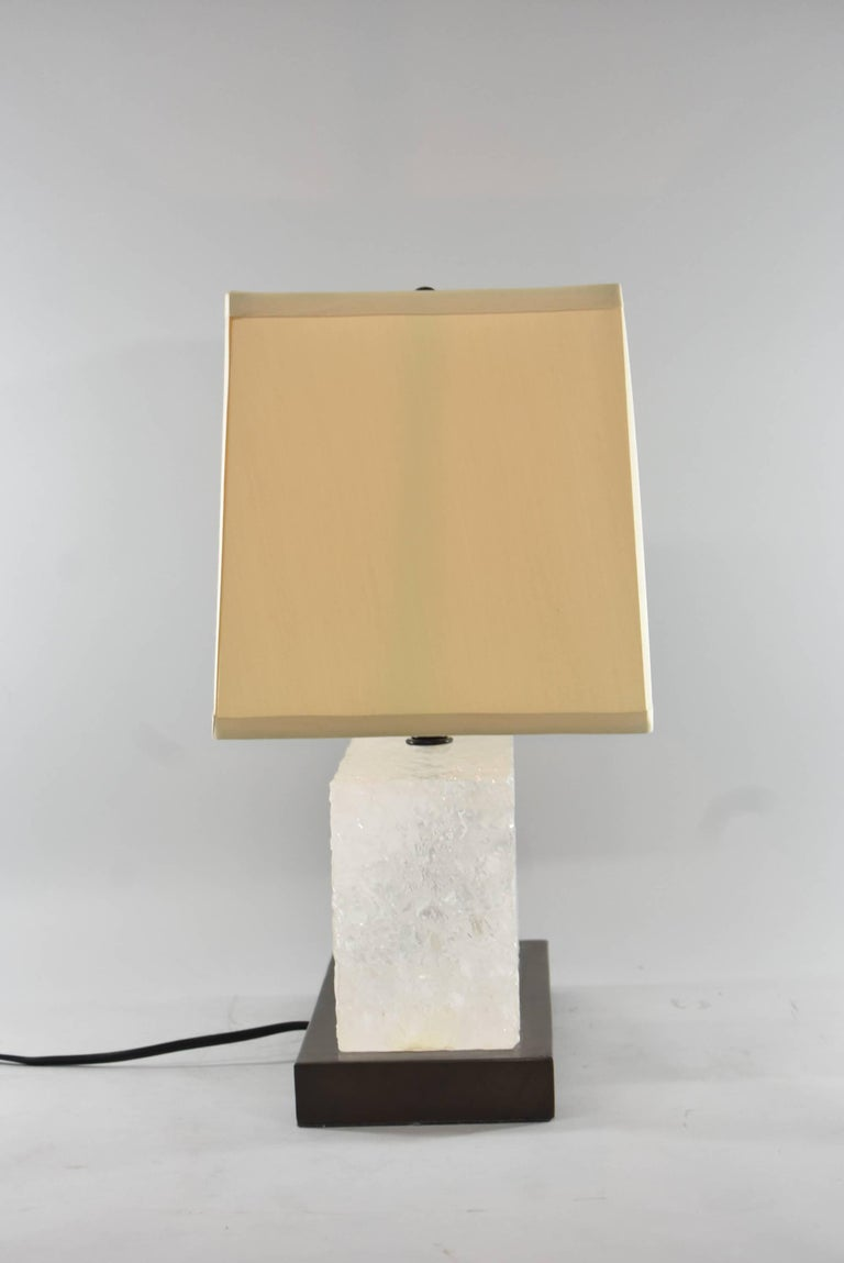 Modern Signed / Numbered Carved Ice Table Lamp by Robert Kuo for McGuire 3/19 For Sale