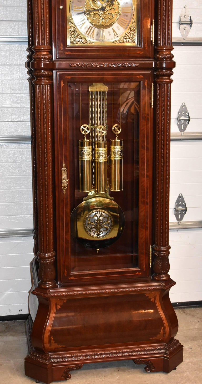 American J.H. Miller Grandfather Floor Clock Limited Edition Howard Miller 611-030 T For Sale