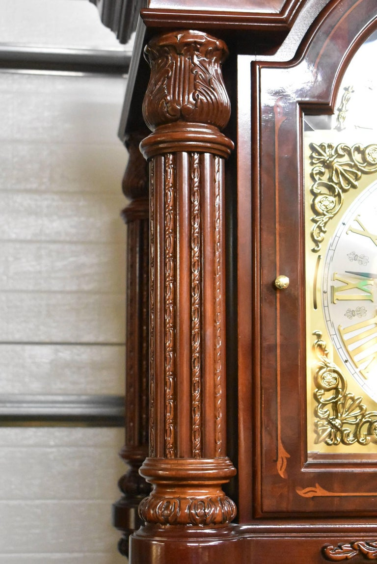 Contemporary J.H. Miller Grandfather Floor Clock Limited Edition Howard Miller 611-030 T For Sale