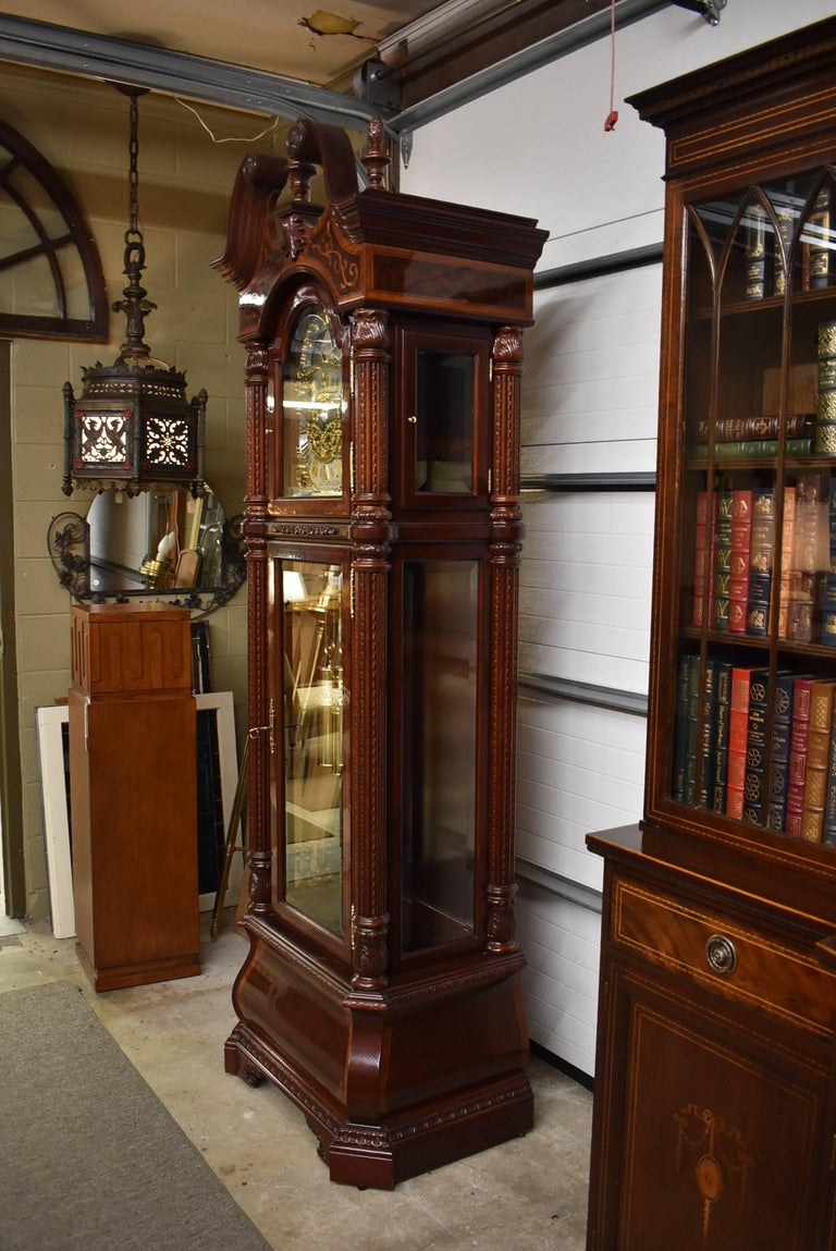 Modern J.H. Miller Grandfather Floor Clock Limited Edition Howard Miller 611-030 T For Sale