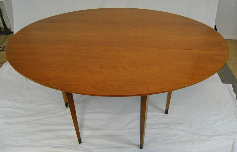American Mid Century Modern Drop Leaf Gateleg Table Designed By Edward  Wormley For Dunbar