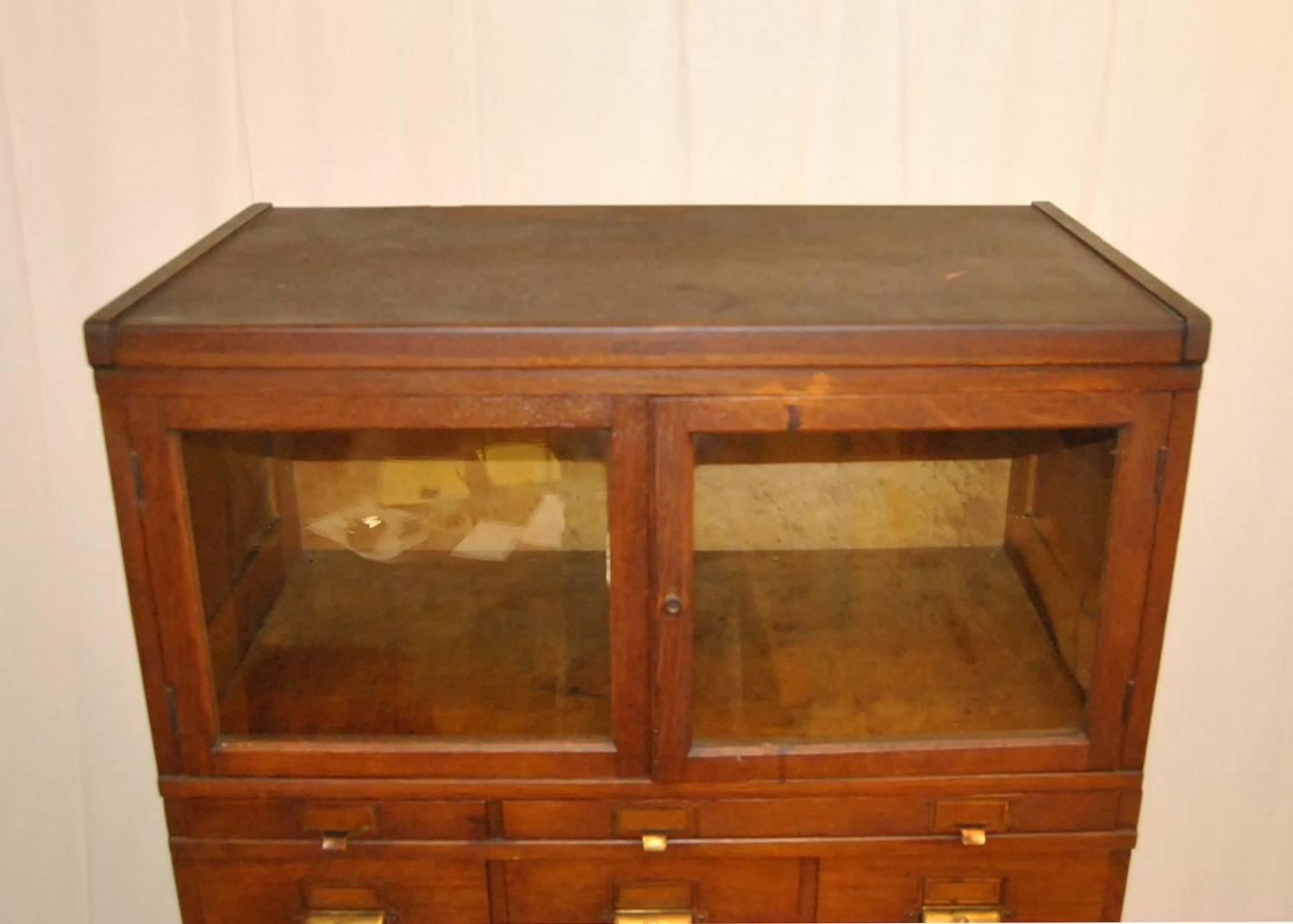 Early 20th Century Oak Stacking File Cabinet By Yawman And
