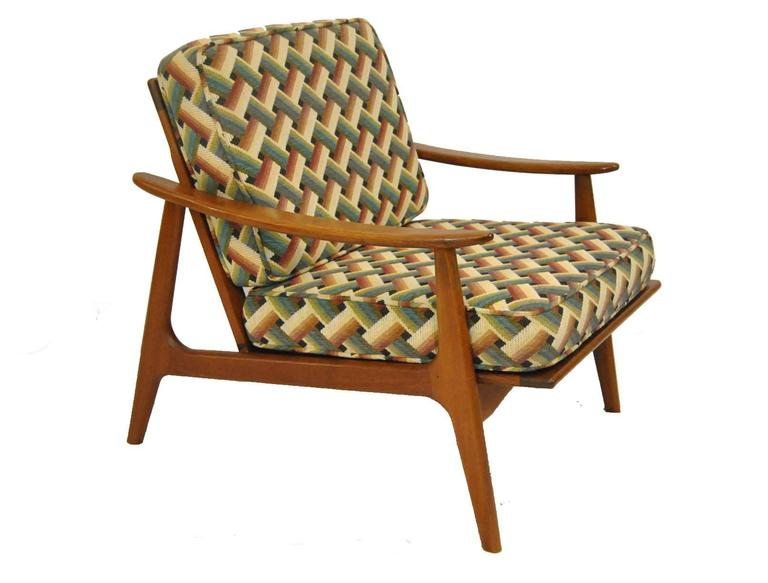 Pair Of Hans Wegner Style Danish Teak Arm Chairs With Fagas Straps 2