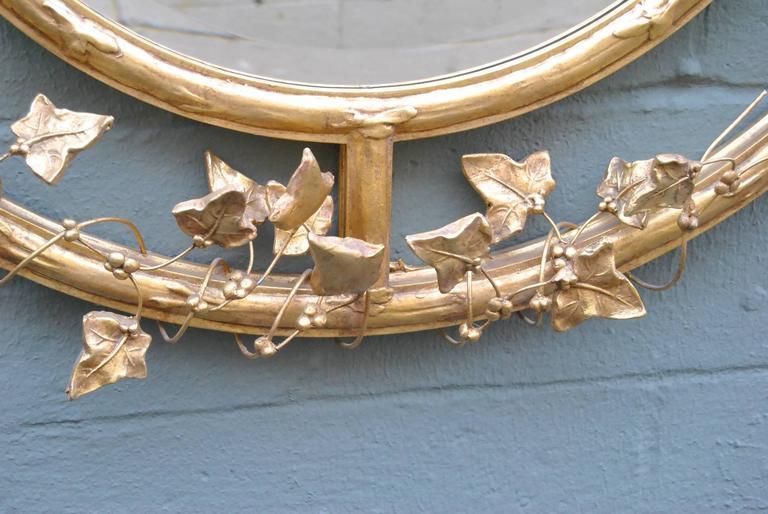 Pair of Giltwood Round Beveled Mirrors by Friedman Brothers 3