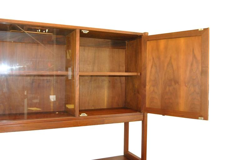 Charmant Mid Century Modern Mid Century Danish Modern Rosewood China Cabinet With  Cane Door Fronts