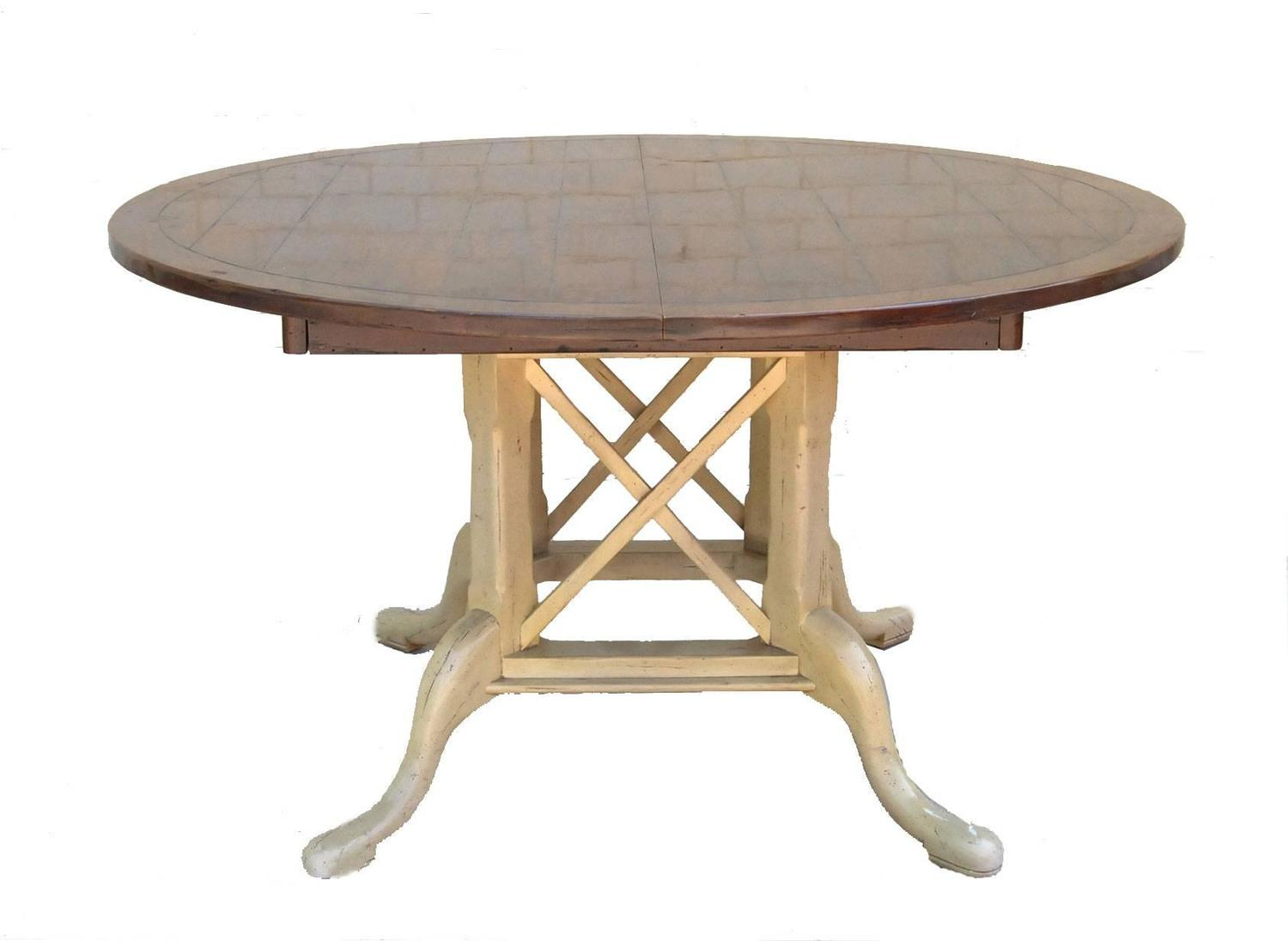 Country French Kettering Round Table and Six Dudley Side Chairs by Guy Chaddock For Sale at 1stdibs
