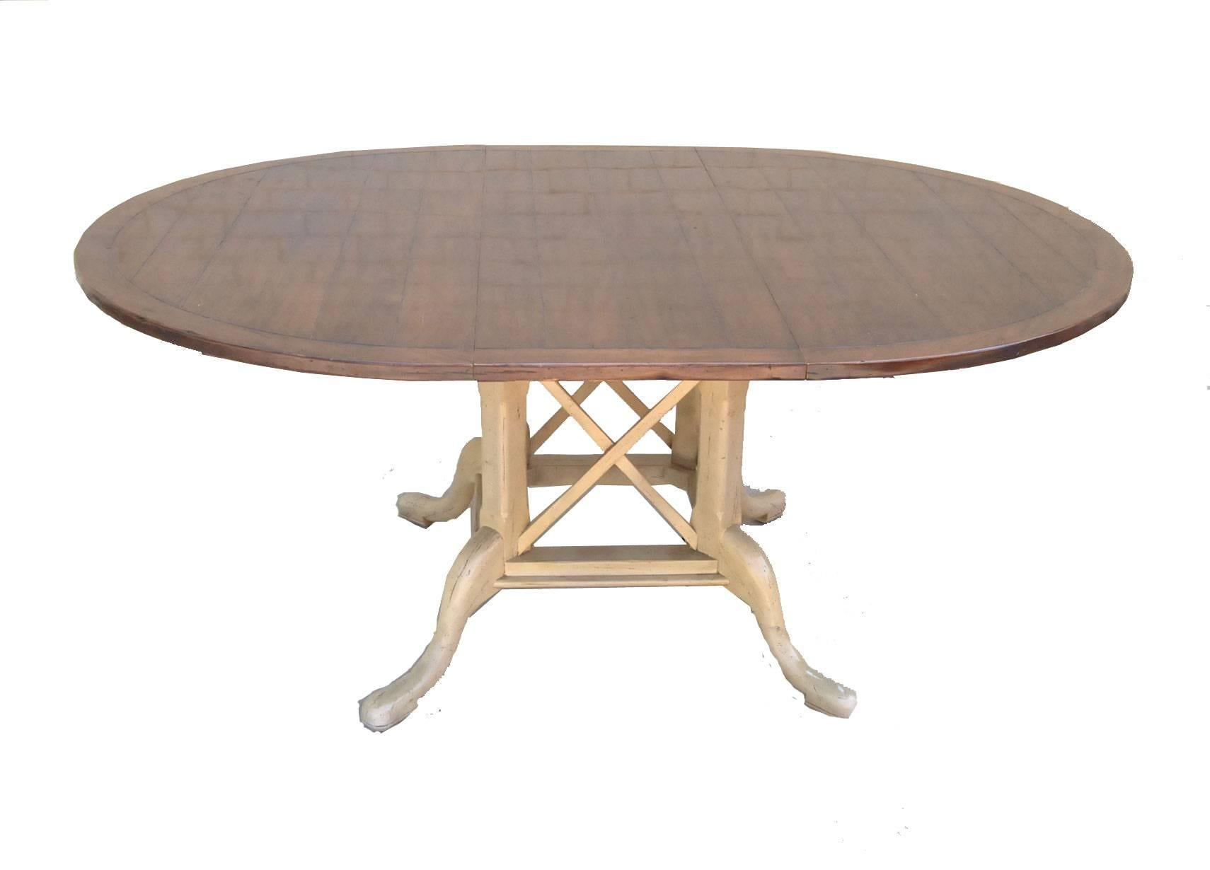 Country French Kettering Round Table And Six Dudley Side Chairs By Guy  Chaddock At 1stdibs