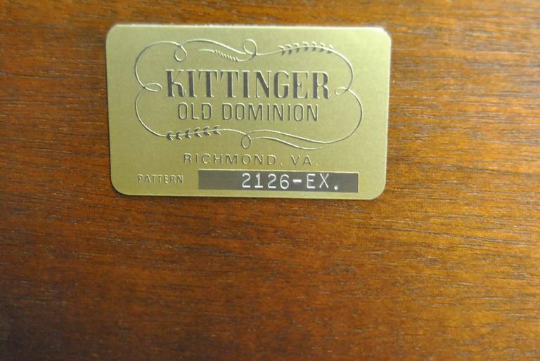 Jefferson Mahogany Rent Table #2126-EX by Kittinger 2