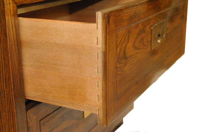 Pair Of Henredon Campaign Style Nightstands At 1stdibs