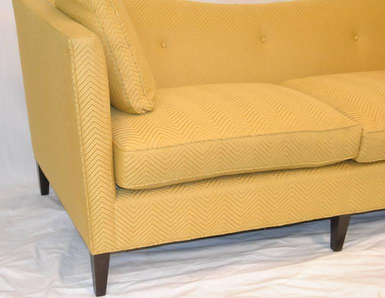 French Tuxedo Butter Yellow Sofa By Baker Furniture Baker Classic