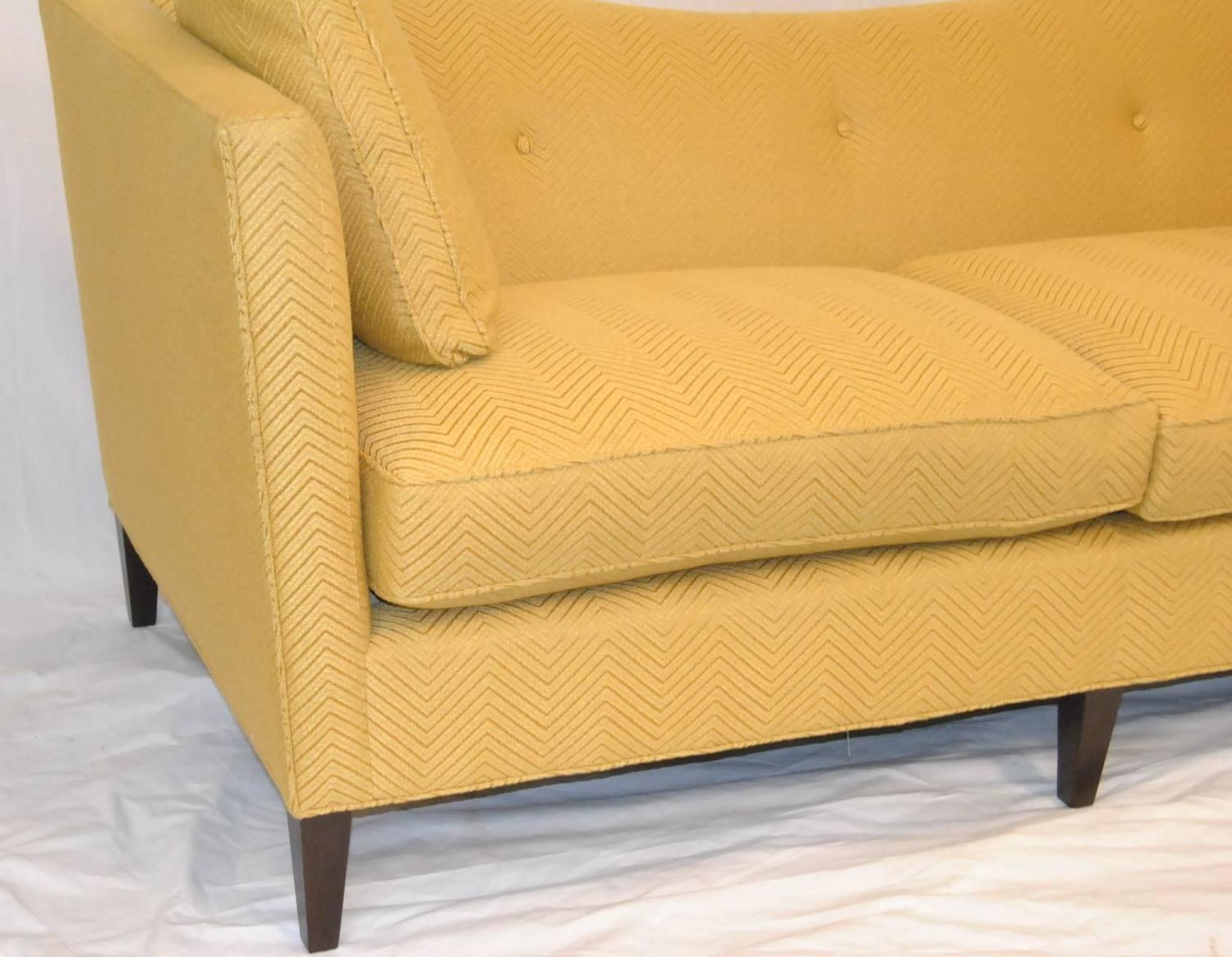 french tuxedo butter yellow sofa by baker furniture baker
