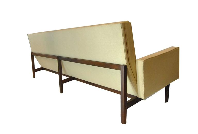 A Classic Mid Century Knoll Model 57W Sofa. Frame Has Mortised And Pinned  Construction