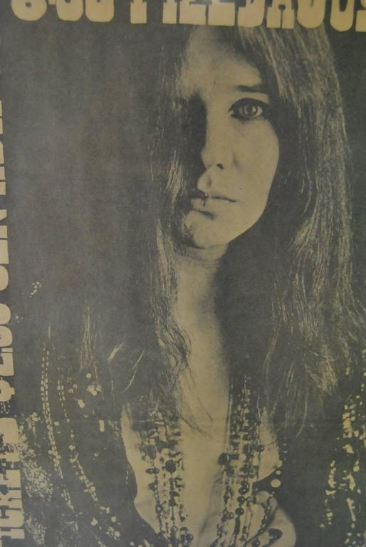 Janis Joplin Framed 1969 Concert Advertisement For