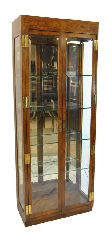 pair of campaign style display cabinetshenredon for sale at
