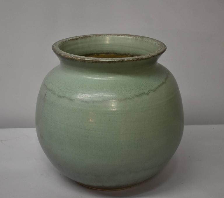 Tall Light Jade Green Pewabic Pottery Vase Detroit Mi For Sale At