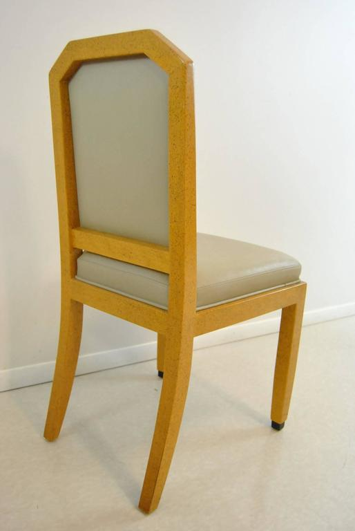 Modern Set of Eight Hand-Carved and Hand-Painted Dining Room Chairs by William Switzer For Sale