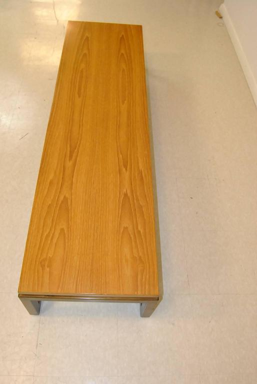Baker Furniture Teak Coffee Table/Bench by Michael Taylor In Good Condition For Sale In Toledo, OH
