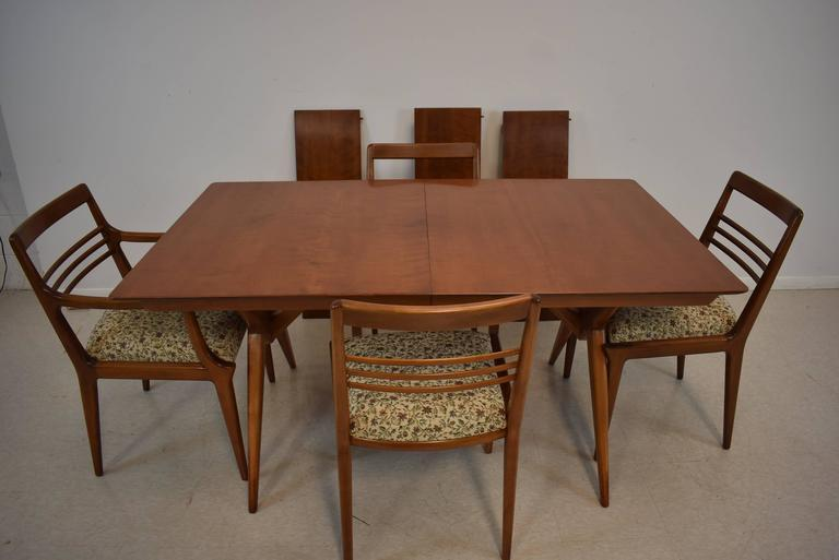 Mid Century Modern Dining Room Table And Four Chairs, Johnson Furniture  Company In Good