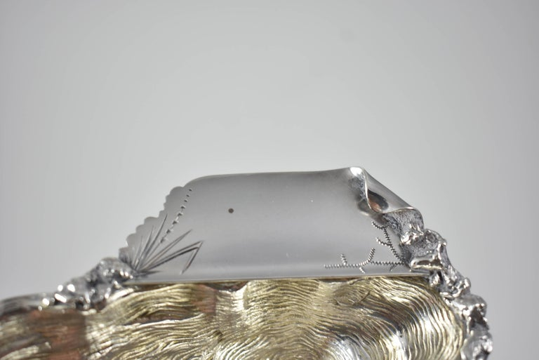 Late 19th Century Antique Wood & Hughes Sterling Silver Oyster Dish For Sale