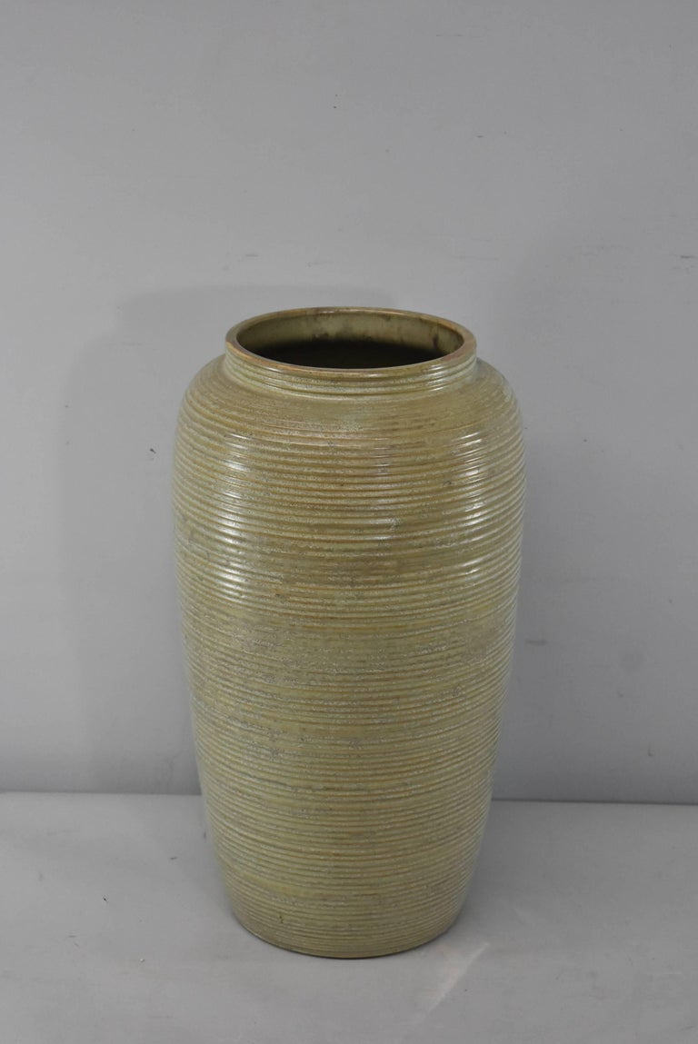 Mid Century Monmouth Pottery Large Floor Vase For Sale At